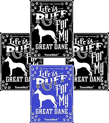 4 Pack Top Great Dane Dog Lover Gift Set Magnet Sticker Easter Basket Filler Idea