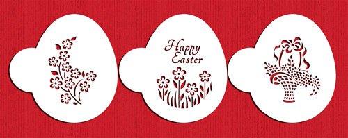 Easter Basket Egg Cookie Stencil Set by Designer Stencils