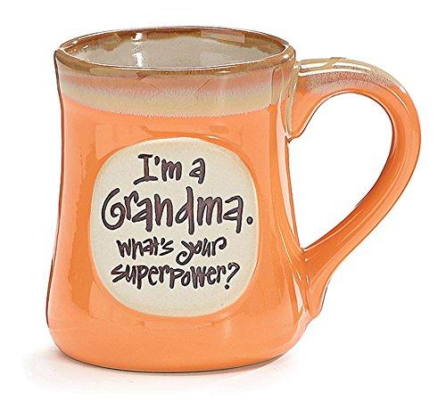 Im a Grandma Whats Your Superpower 18 oz Porcelain Coffee Cup Mug
