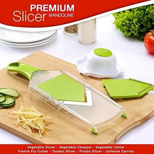 Premium Mandoline Slicer - Vegetable Slicer - Vegetable Chopper - Vegetable Cutter - French Fry Cutter - Tomato