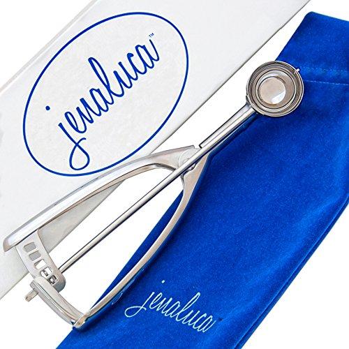 Jenaluca Mini Cookie Scoop Melon Scoop Truffle Scoop - Premium 188 Stainless Steel - Elegant Gift Packaging Small