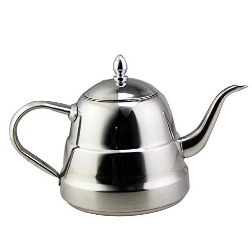 Riwendell Stainless Steel Mirror Finish Tea Kettle Stovetop Tea Pot 158 Quart GS-028209-15L
