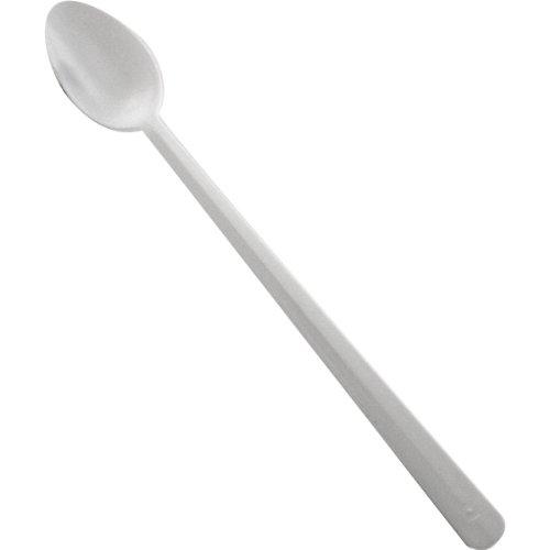 8 White Plastic Soda  Sundae Spoon 50 Pack