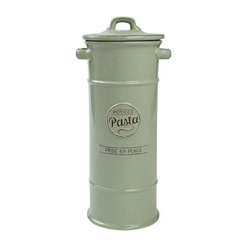 T&G Woodware Pride of Place Ceramic Pasta Spaghetti Storage Jar in Old Green 18017