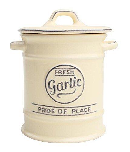 T&G Woodware Pride of Place Garlic Jar Cellar in Old Cream - 18023