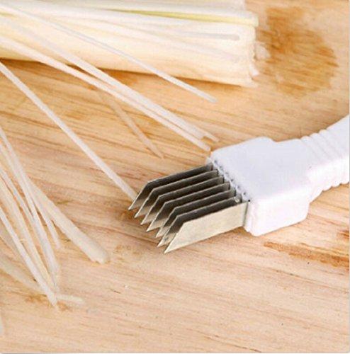 Mobilesharpnew Green Spring Onion Slicer Vegetable Shredder Cutter Easy Handle (white)
