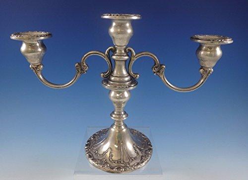 Chantilly by Gorham Sterling Silver Candelabra 3-Light 8 14 Tall 749 0774