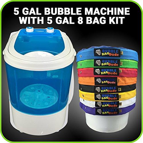 Bubble Machine 5 Gallon 8 Bag Ice Bubble Bags Mixing Kit - 5 Gallon Portable Mini Bubble Washing Machine- Herbal