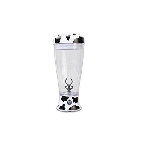 Glovion Skinny Moo Mixer Self Stirring Mug Chocolate Milk Mixing Cup Cool Cow Design Mug