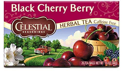 Celestial Seasonings Herbal Tea Black Cherry Berry 20 Count Pack of 6 Packaging May Vary