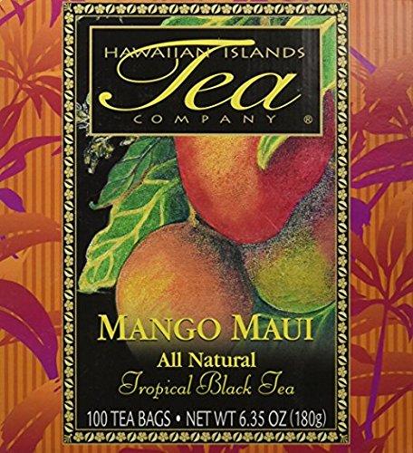 Mango Maui Black Tea 100 Tea Bags Tropical Flavored All Natural by Hawaiian Islands Tea Company