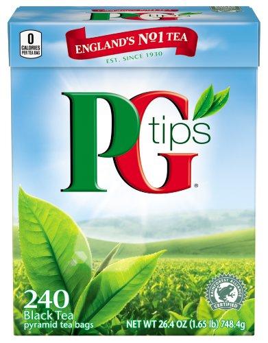PG Tips Black Tea Pyramid Tea Bags 240-Count Box Pack of 2