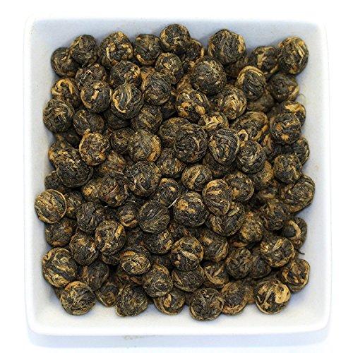 Tealyra - Black Dragon Pearls - Yunnan Special Black Tea - Loose Leaf Tea - Premium Tea - Bold Caffeine - Organically Grown - 220g 8-ounce