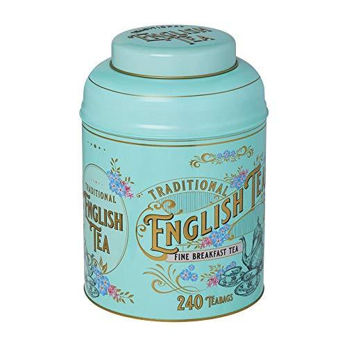 Vintage Victorian English Breakfast Tea Tin 240 Teabags