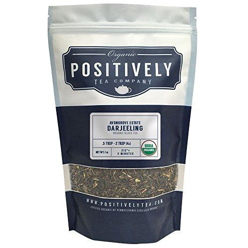 Positively Tea Company Organic Avongrove Estate Darjeeling Black Tea Loose Leaf USDA Organic 1 Pound Bag