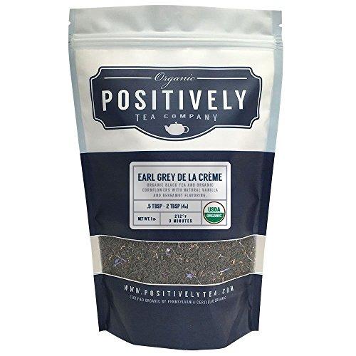 Positively Tea Company Organic Earl Grey De La Crème Black Tea Loose Leaf USDA Organic 1 Pound Bag