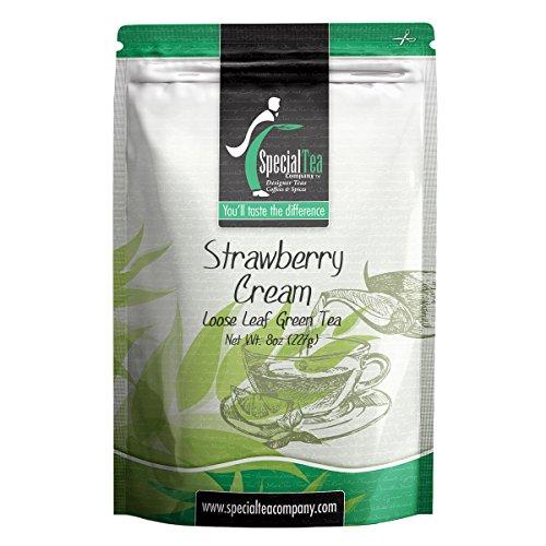 Special Tea Company Strawberry Cream Loose Leaf Green Tea 8 oz