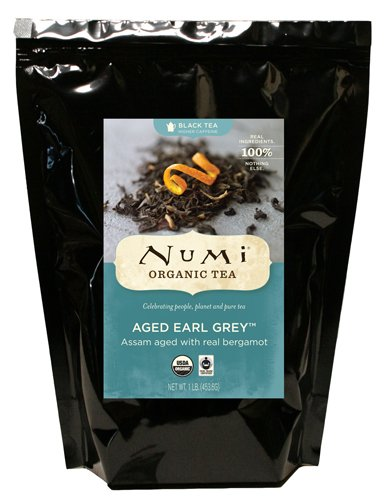 Numi Organic Tea Aged Earl Grey Italian Bergamot Blended Black Tea Loose Leaf 16 Ounce Bulk Pouch