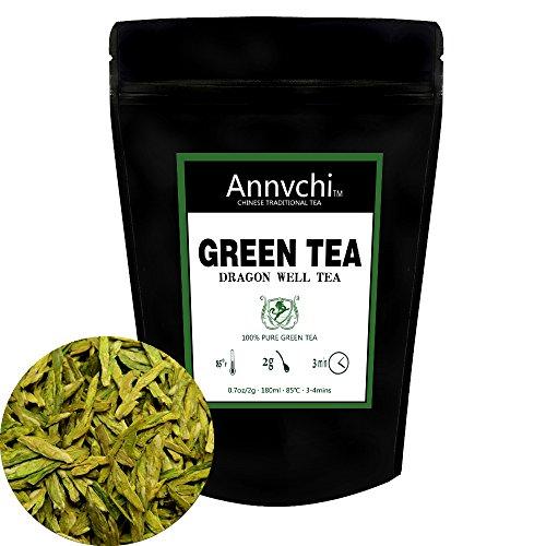 Dragon Well Green Tea 50 Cup - Organic Loose Tea - Xi Hu Long Jing Tea -  35 Ounce