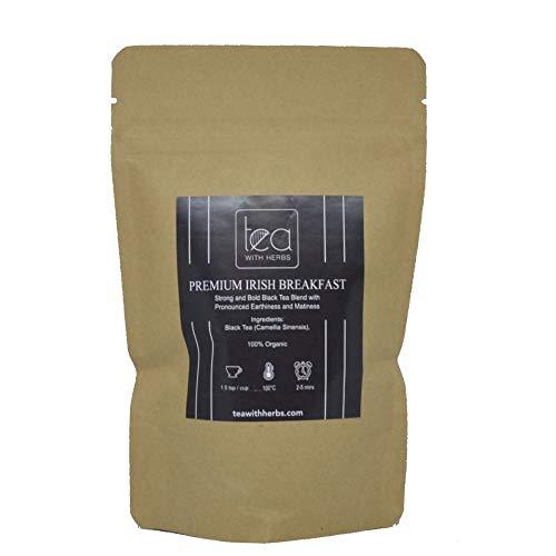 Premium Irish Breakfast - Organic loose tea leaves - 50gm Eco-friendly Pouch