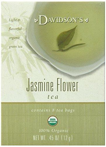Davidsons Tea Jasmine Flower Tea 8-Count Tea Bags 045 oz Pack of 12