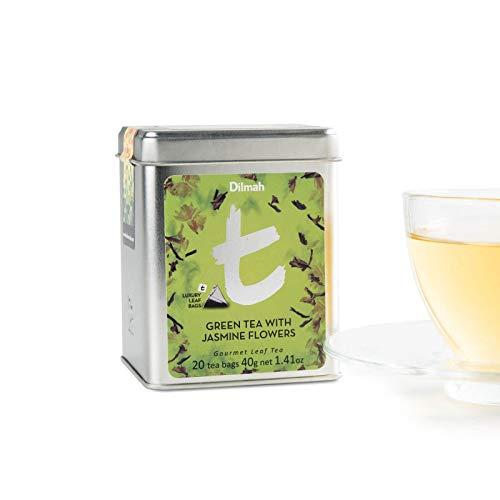 Dilmah Green Tea with Jasmine Flowers - 20 Tea Bags - Pure Sri Lankan Ceylon Green Tea