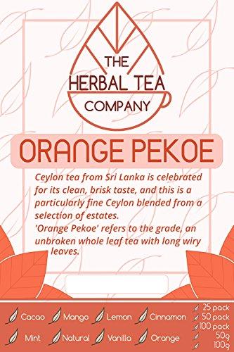 Jasmine Flower Tea Orange Pekoe Tea Blend Tea Bags With Cinnamon Flavour 50 Pack