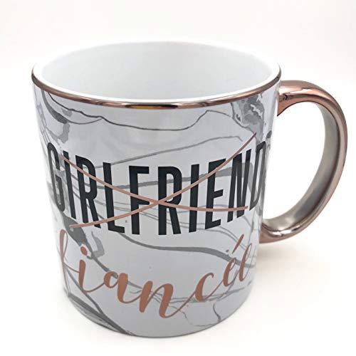 Funny Girlfriend to Fiancée CoffeeTea Mug Set - Playful Girlfriend to Fiancée Mugs - Set of 4-22oz Mugs