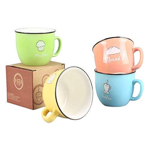 Hwagui - Funny Personalized Ceramic Coffee Mug Cool Set of Cups Tea MugsSet of 4200ml68oz