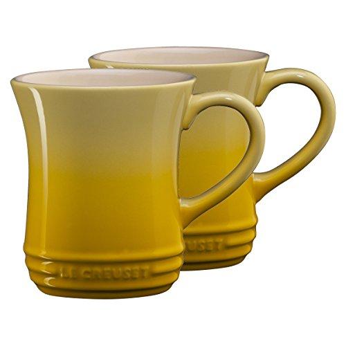 Le Creuset Soleil Yellow Stoneware 14 Ounce Tea Mug Set of 2