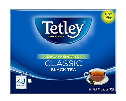 Tetley Black Tea Decaffeinated Classic 48 Tea Bags Pack of 6 Packaging may vary