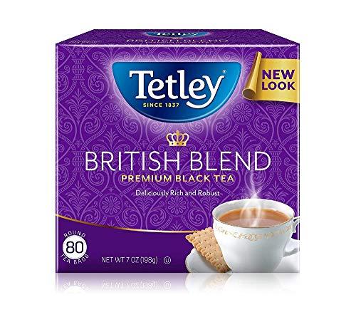 Tetley Black Tea british Blend 80 Tea Bags Pack Of 12