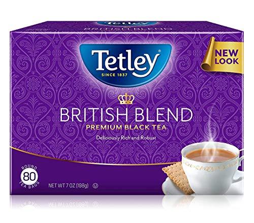 Tetley British Blend Premium Black Tea 7 Ounce Pack of 6 - Packaging May Vary