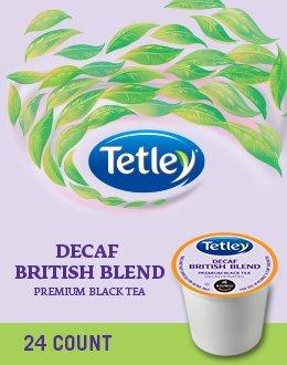 Tetley British Decaf Blend Premium Black Tea 96 K Cups
