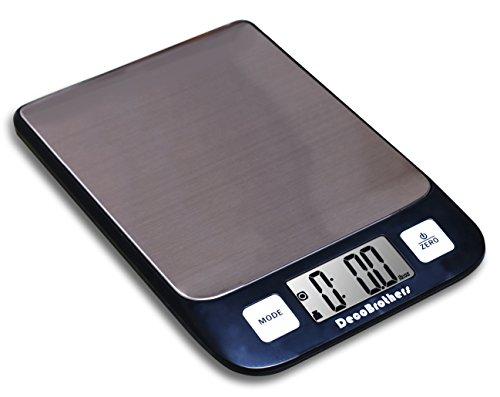 Decobros Digital Multifunction Kitchen And Food Scale, 11lb Capacity By 0.1oz, Stainless Platform, Elegant Black