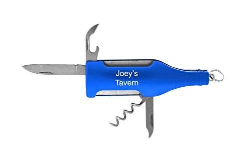 Personalized Wine Bottle Multi-tool opener Free Engraving Blue