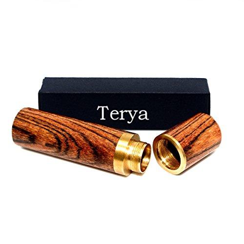 Terya Wood Toothpick holder Portable Toothpick Holder Dispenser Pocket Toothpick Holder Stripe