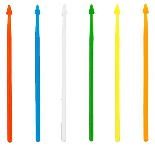 Soodhalter King Size 250 Arrow Picks 35 Inch Plastic Food Cocktail Toothpicks 6 Color Assortment