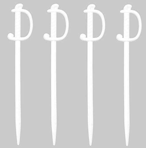 Soodhalter Regal Swords 50 White Sword Picks 3 Inch Plastic Food Cocktail Toothpicks