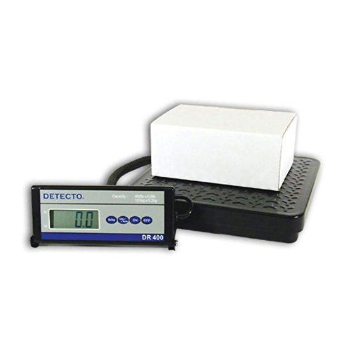 Detecto DR400 Portable Digital Receiving Scale12 x 12 400 lb Capacity