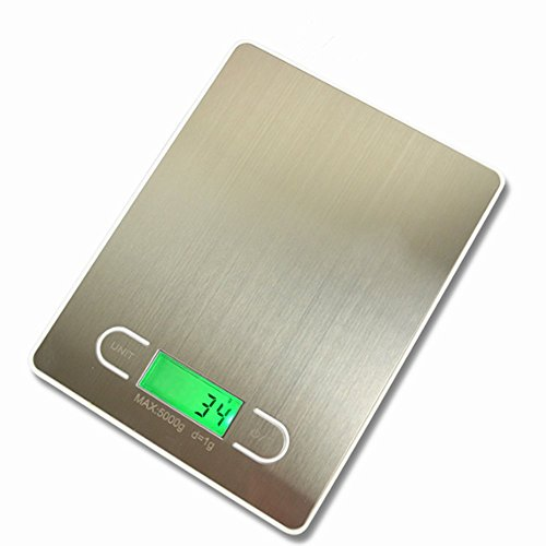Smileto 11lb/5kg Electronic Digital Multifunction Kitchen Food Scale With Stainless Steel Platform And Lcd Display