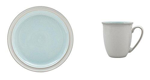 Denby Blends Azure Dinner Plate and Coffee BeakerMug Set of 8
