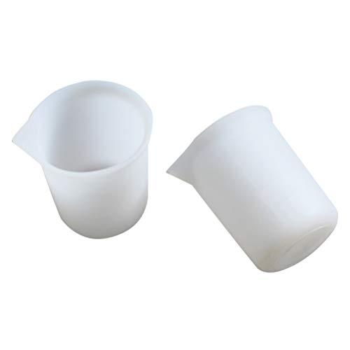 SUPVOX Graduated Measuring Cups Silicone Beaker Lab Liquid Container Measuring Tools 100ML 2Pcs