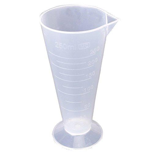 UKCOCO 250ml Plastic Measurement Beaker Measuring Cup for Kitchen LaboratoryWhite