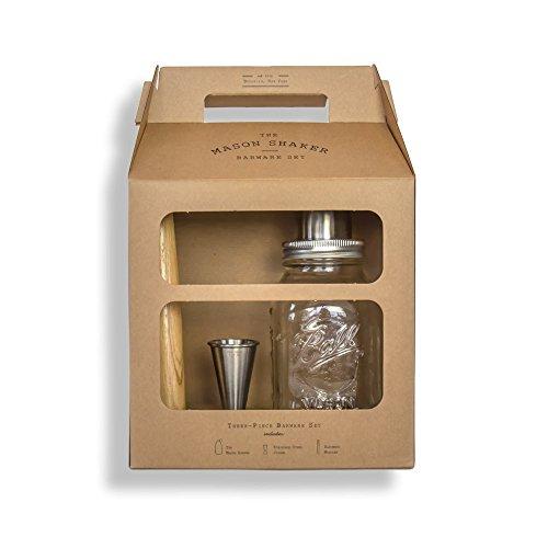 The Mason Shaker Barware Set 9 x 55 x 13 Brown