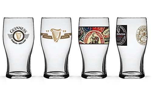 Guinness Beer Pint Glasses 4 Tulip