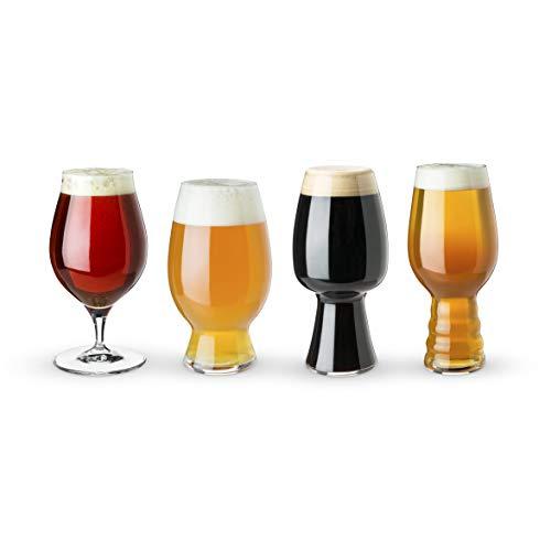 Spiegelau 4991697 Set of 4 Mugs Glasses Craft Tasting Kit 4-Piece Beer Set