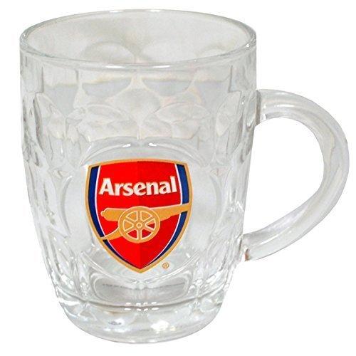 Arsenal Fc Glass Tankard Official Merchandise