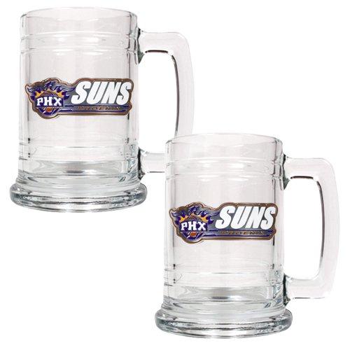 NBA Phoenix Suns Two Piece 15-Ounce Glass Tankard Set