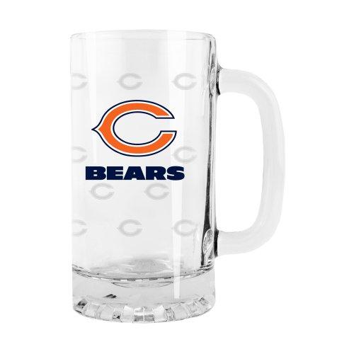 NFL Chicago Bears Satin Etch Tankard Glass 16-ounce